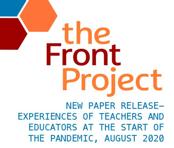 New paper release - experiences of teachers and educators at the start of the pandemic